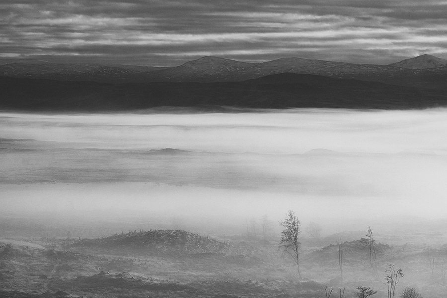 Photography by James McGeachan - Mist Over Rannoch Moor